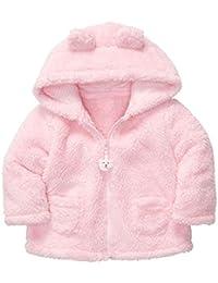Sunenjoy Bébé Infantile Filles Automne Hiver Lapin Oreille Hooded Manteau Manteau Veste Épais Peluche Chaud Vêtements (18-24 mois, rose) …