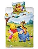 Winnie Pooh Baby-Bettwäsche Disney Kinderbettwäsche Mädchen & Jungen ☆ Best Friends · Kissenbezug 40x60 + Bettbezug 100x135 cm