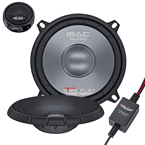 Mac Audio Star Flat 2.13 - Altavoces de vías separadas, Color Negro