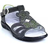 Ricosta Pippa sandal Rhinestone Girls Grey Patina Green