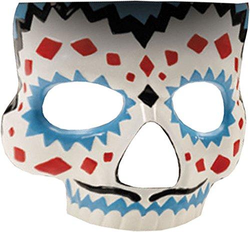 Herren Mexikanisch Halloween Zubehör Tag der Toten Maske Herren mit Elastik (Halloween-masken-tag Der Toten)