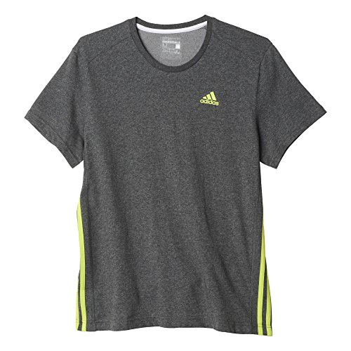 adidas Herren Ess Mid Tee T-Shirt Grau/Blau