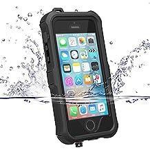 Cover impermeabile iPhone 5s/se, ZVE® custodia iPhone 5s/se, impermeabilità antiurto antipolvere anti neve anti urti heavy duty copertura di subacqueo caso protettivo guscio per Apple iPhone 5s/se nero