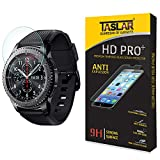 #10: Taslar(TM) Samsung Gear S3 Screen Protector Premium Arc Edge Tempered Glass Scratch Screen Protector Guard Card for Samsung Gear S3