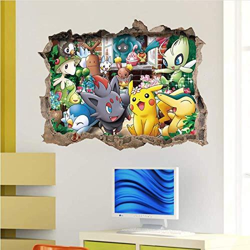 er Pokemon Go Lustige Nette Pikachu Abziehbild Wandaufkleber Cartoon Spiel Für Kinderzimmer Kinder Geburtstagsgeschenk Spielzeug ()