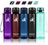 KollyKolla Trinkflasche - BPA-frei Auslaufsicher Sport Wasserflasche, 350ml Tritan Sportflasche Kohlensäure Geeignet Kunststoff mit Filter für Kinder, Schule, Baby, Fahrrad, Gym, Glossy Marine