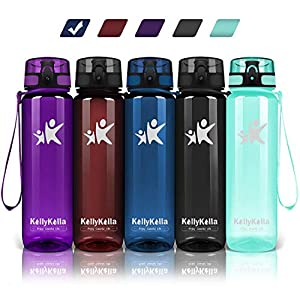 KollyKolla Trinkflasche – BPA-frei Auslaufsicher Sport Wasserflasche, 350/500/800ML/1L/1.5 Liter Tritan Sportflasche…