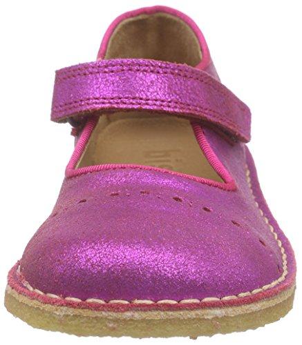 Bisgaard Ballerina, Mary Jane fille Rose - Pink (136 Glitter-pink)