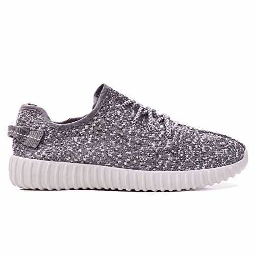 AMBASSADOR New Boys Mens Grey White Yeezy Kanye Inspired Fitness Boys Trainers Boost Running Casual Pumps Size 8