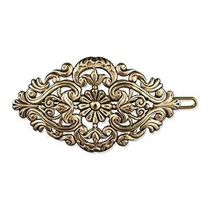 Rivelle Damen Trachten Haarspange Amelie alt-Gold Haarschmuck Vintage Hochzeit Metall Gold