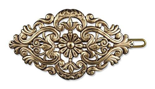 Rivelle Damen Trachten Haarspange Amelie alt-Gold Haarschmuck Vintage Hochzeit Metall Gold (Die Vintage Trachten Schmuck)