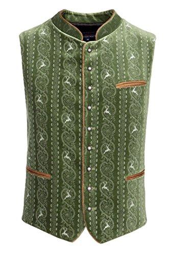 Stockerpoint Herren Trachtenweste grün bedruckt Antonio 114487 52 grün bedruckt