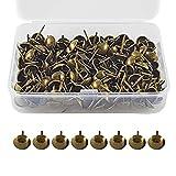 Store® Tapisserienagel, 150 Stück, französische Marke, Tapisserie, 17 x 11 mm, bronzefarben, für Sessel, Möbel, Betten im Vintage-Stil