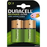 Duracell Recharge Ultra Piles Rechargeables type D 3000 Mah, Lot de 2