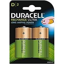 Duracell Recharge Ultra Batterie Ricaricabili, Stilo D, 3000 mAh, Confezione da 2