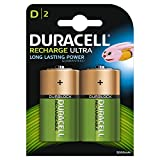 Duracell Recharge Ultra Type D batteries 3000 mAh,Pack of 2