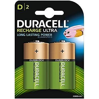 Duracell Recharge Ultra D Mono Akku Batterien LR20 3000