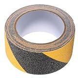 BigTron 5cm x 5m Boden Sicherheit Non-Skid-Band Anti-Rutsch-Kleber Warning-Strip-Aufkleber(Schwarz und Gelb)