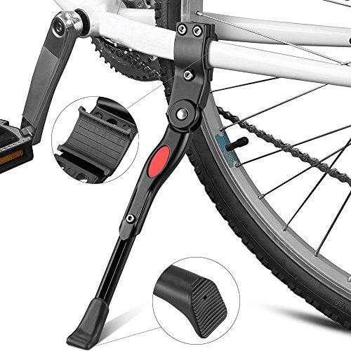 Pixnor universale regolabile in alluminio lega strada MTB bici bicicletta cavalletto Kick cavalletto laterale (nero)