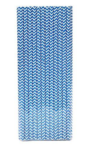 Pailles en papier décoratif bleu 100pcs