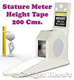 #8: Gadget Hero's Height Measuring Scale Tape Measure Stature Meter 200cms=78inch/2M Wall Mounted. Ideal For Home, Office, School Or Doctors Clinic. White