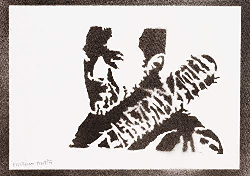 Negan The Walking Dead Poster Plakat Handmade