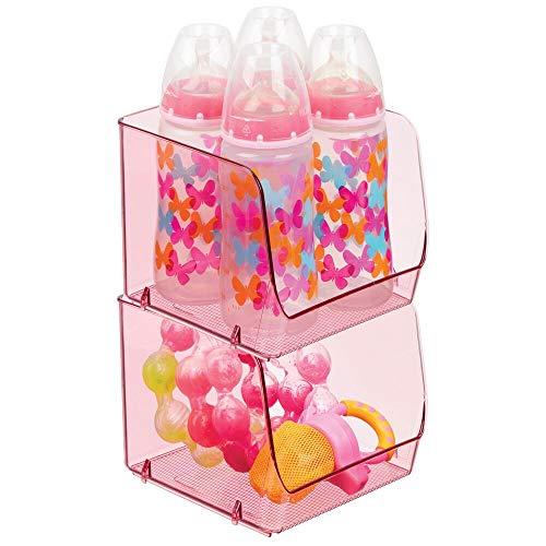 MDesign Juego de 2 cajas organizadoras para cuarto de bebé - Contenedor plástico grande para ropa...