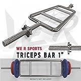 We R Sports® Triceps Bar Set Wiight Plate Hammer Curl Standard 1