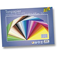folia 6725/50 99 Tonpapier (130 g/m², 25 x 35 cm, 50 Blatt) sortiert