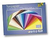 Bringmann folia 6725/50 99 Tonpapier (130 g/m², 25 x 35 cm, 50 Blatt) sortiert