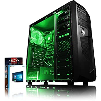 VIBOX Standard 3XL - Ordenador para Gaming (AMD A8-7600, 32 GB de RAM, 2 TB de Disco Duro, AMD Radeon R7, Windows 10) Color neón Verde