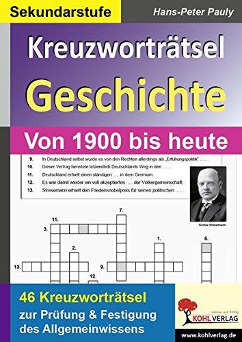 Kreuzworträtsel Geschichte Aktuell (Geschichte Kreuzworträtsel)