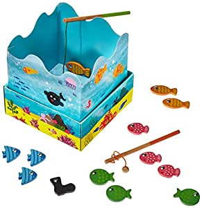 Goula Fishing Game with Wooden Fish