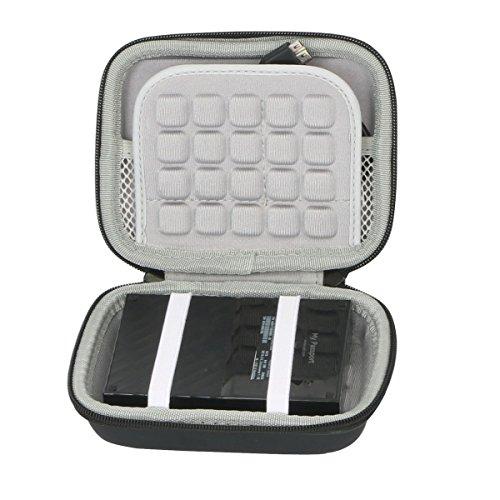 Hart Reise Schutz Hülle Etui Tasche für WD My Passport Mobile WDBYNN0010BBK-WESN 1TB 2TB 3TB 4TB Externe Festplatte von co2CREA (Black) -