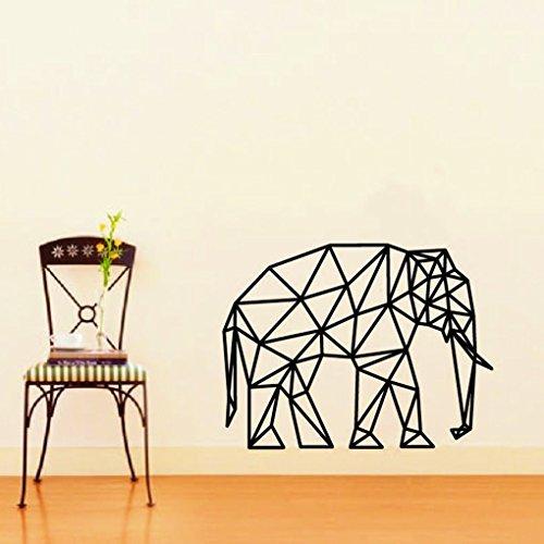 Topker Geometrischer Elefant-Vinylwand-Aufkleber Specia Tierentwurf entfernbarer Hauptabziehbild