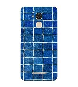 Blue Bricks Pattern 3D Hard Polycarbonate Designer Back Case Cover for Asus Zenfone 3 Max ZC520TL