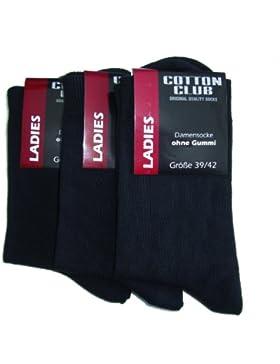 6 Paar Gesundheitssocken Cotton Club Damensocken Socken Ohne Gummi Gummizug Baumwolle Diabetiker geeignet