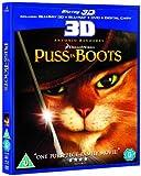 Puss in Boots (Blu-ray 3D + Blu-ray + DVD + Digital Copy) [2012] [Region Free]
