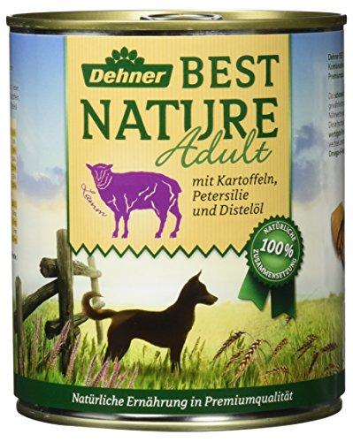 Dehner Best Nature Hundefutter Adult Lamm und Kartoffeln mit Petersilie, 6 x 800 g