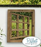 """Reflect Garden Mirror - Real Glass low-distortion Outdoor Mirror - 2ft x 1ft 10"""""""