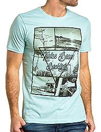 BLZ jeans - T-shirt homme vert d'eau imprimé graphique