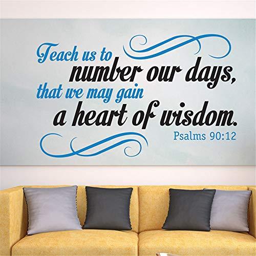 wandaufkleber kinder Lehre uns, unsere Tage zu zählen, damit wir Weisheit erlangen können Bibel-Vers-Schrift-frommes Zitat