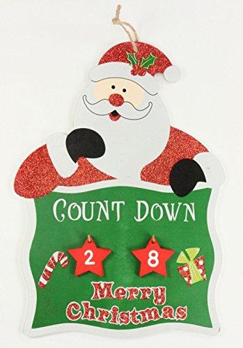 christmasshop PMS Countdown bis Weihnachten Hängeschild W/Nummer Blocks 3A
