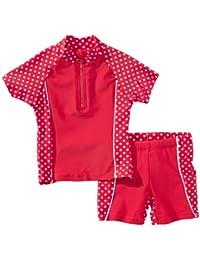 Playshoes Mädchen  Badeanzug, 2-teiliges Bade-Set Punkte mit UV-Schutz