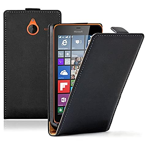 VCOMP® Housse Coque Etui Cuir PU Vrai pour Microsoft Nokia Lumia 640 XL/ 640 XL LTE/ 640 XL LTE Dual SIM/ 640 XL Dual SIM -