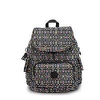 حقيبة ظهر سيتي باك بلون موحد من كيبلينغ, , Floral Mozzaik - BP4353