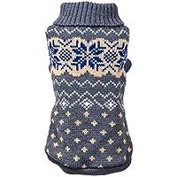 KariNao Haustierkleidung Haustier Hund Pullover Winter Warm Rollkragen Pullover Puppy Costume Apparel(Grau, XL)