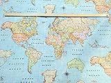 World Map 3Designer Vorhang Polster Baumwolle Stoff