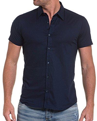 BLZ jeans - Marine blaues Hemd Blau