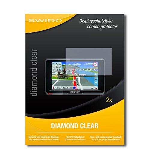 SWIDO 2 x Displayschutzfolie Becker Ready.5 EU Schutzfolie Folie DiamondClear unsichtbar